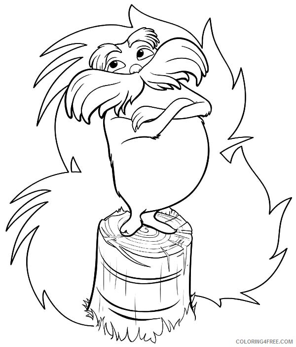 The Lorax Coloring Pages TV Film Try to Protect Truffula Tree Printable 2020 09351 Coloring4free