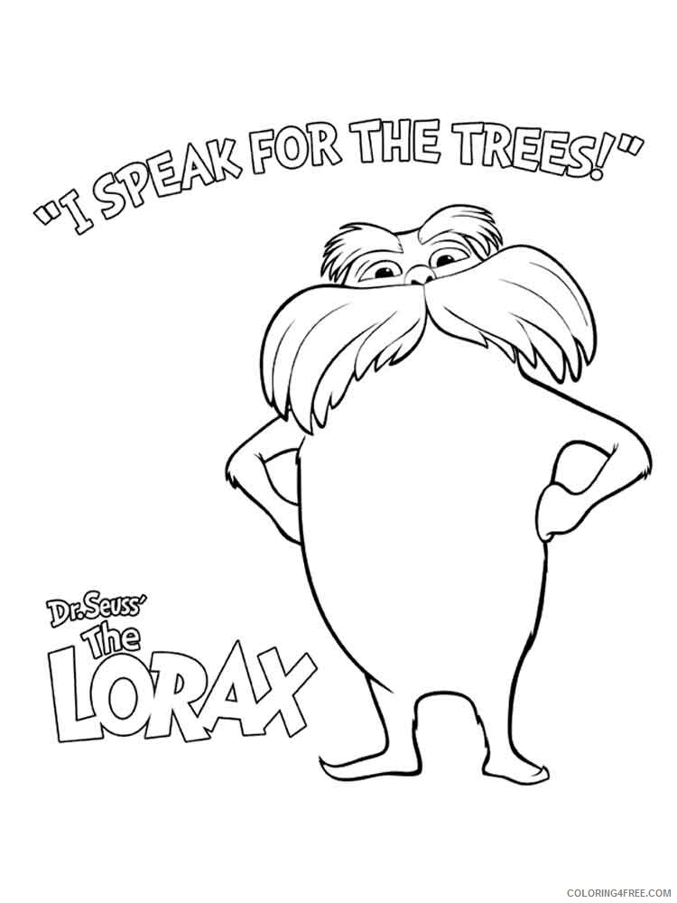 The Lorax Coloring Pages TV Film lorax 11 Printable 2020 09297 Coloring4free