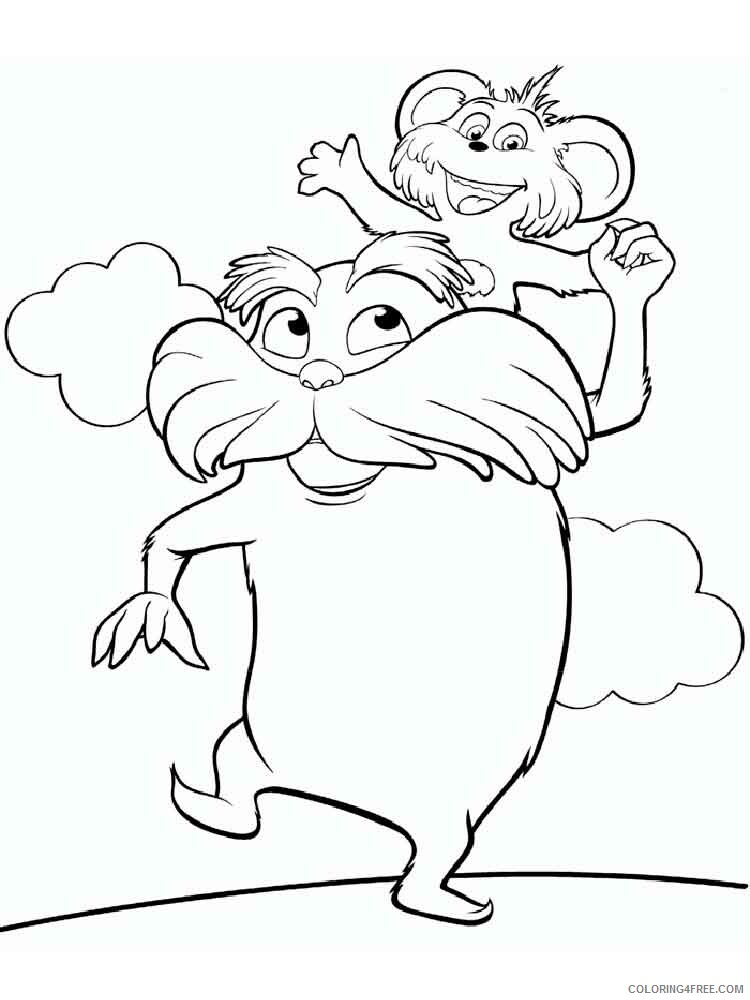 The Lorax Coloring Pages TV Film lorax 2 Printable 2020 09300 Coloring4free
