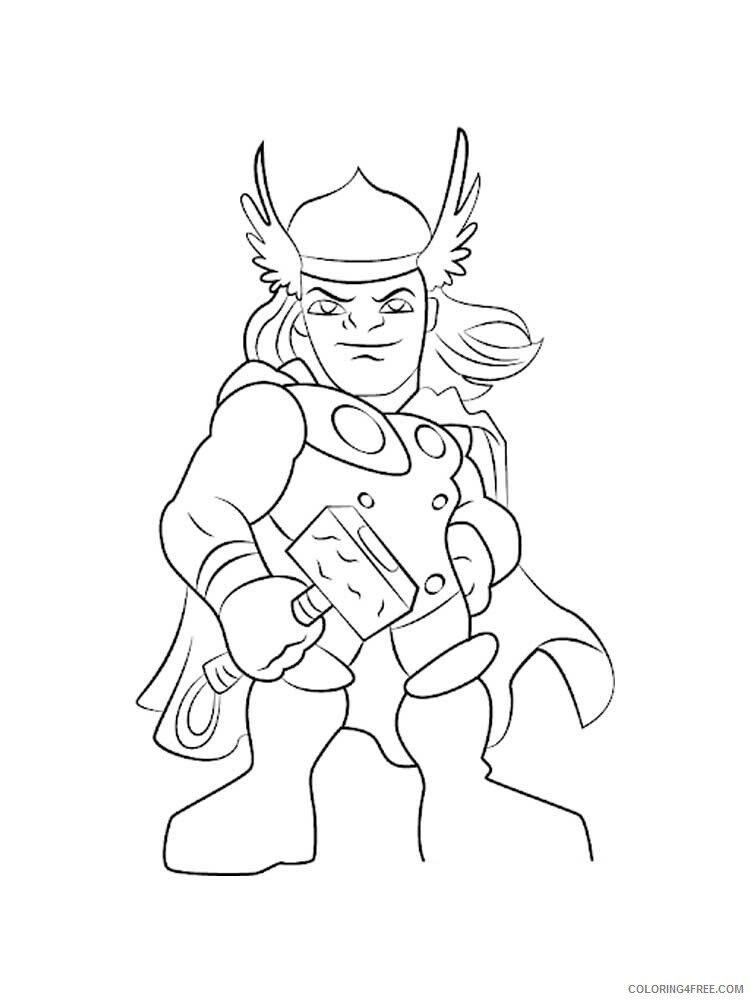 The Super Hero Squad Show Coloring Pages Tv Film Printable 2020 09827 Coloring4free Coloring4free Com