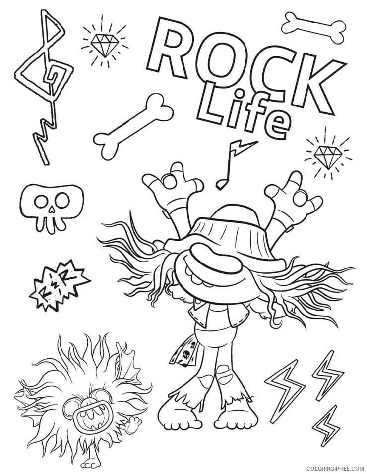 Trolls Coloring Pages TV Film Wonder Day Trolls Printable 2020 10786  Coloring4free - Coloring4Free.com