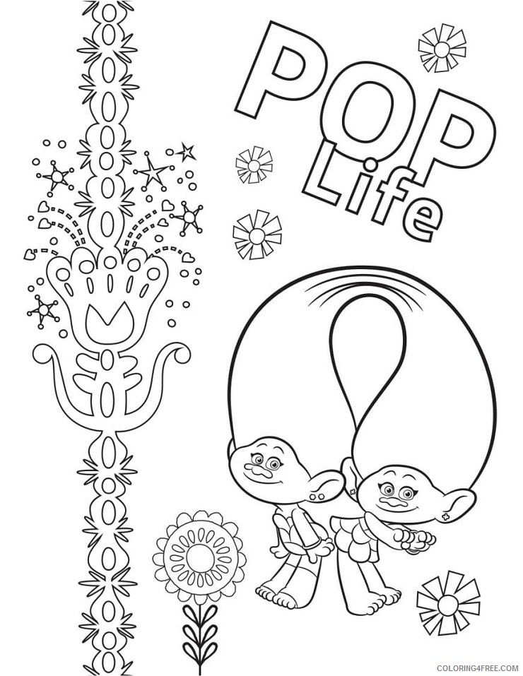 Trolls Coloring Pages TV Film Wonder Day Trolls Printable 2020 10788  Coloring4free - Coloring4Free.com