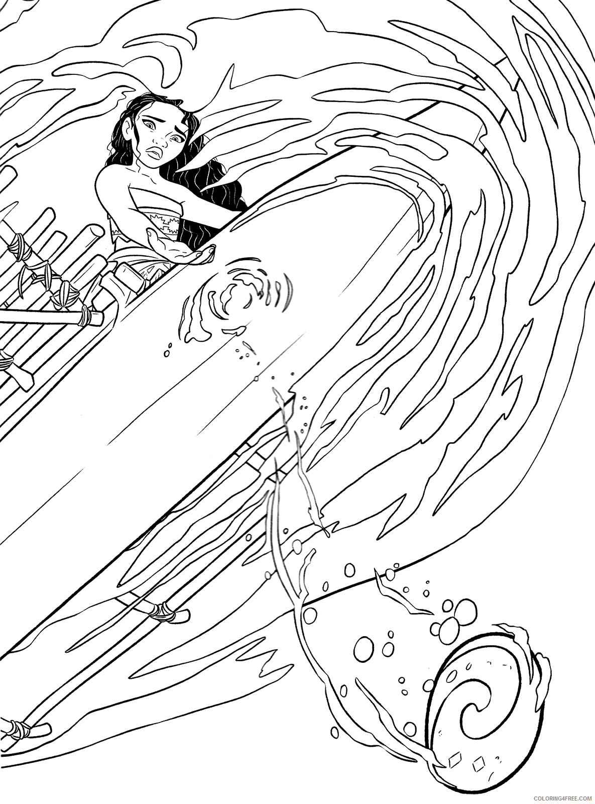 Vaiana Moana Coloring Pages Tv Film Free Moana Printable 2020 11066 Coloring4free Coloring4free Com