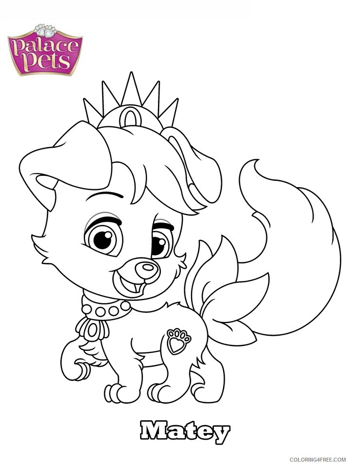 Whisker Haven Tales With The Palace Pets Coloring Pages TV Film Matey 2020  11303 Coloring4free - Coloring4Free.com