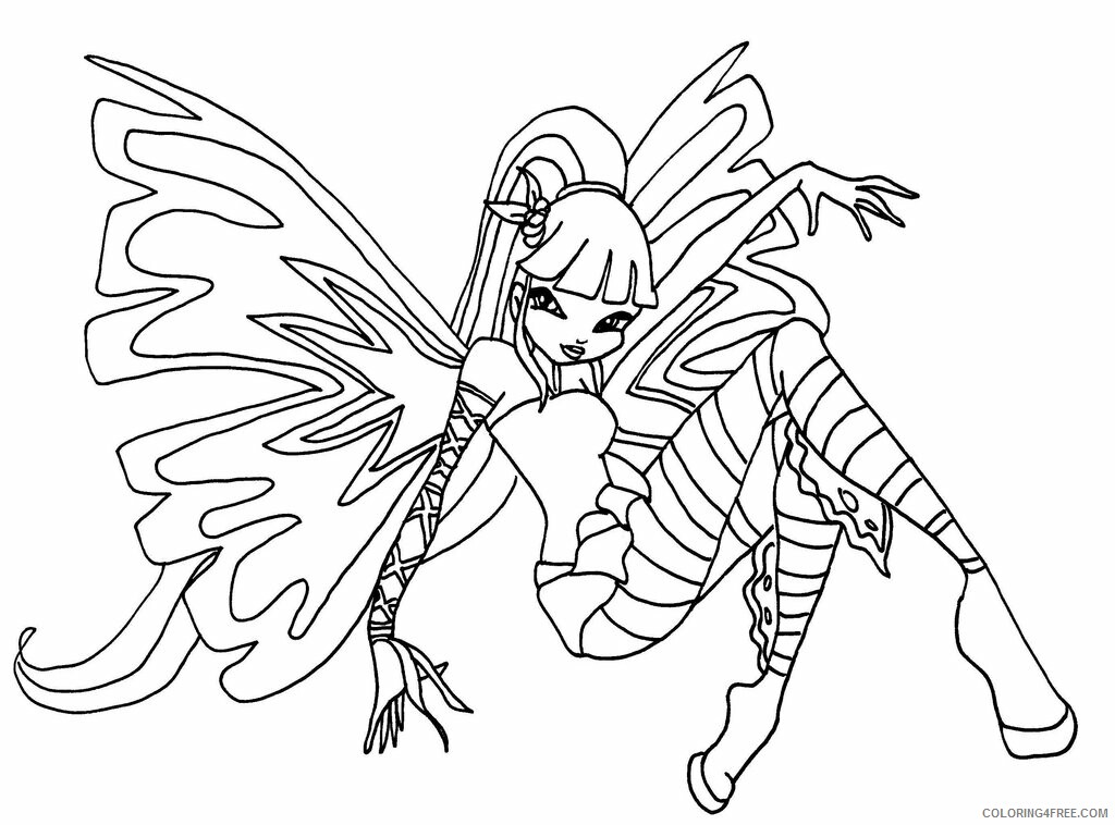 Winx Club Coloring Pages Tv Film Winx Club To Print 2 Printable 2020 11531 Coloring4free Coloring4free Com