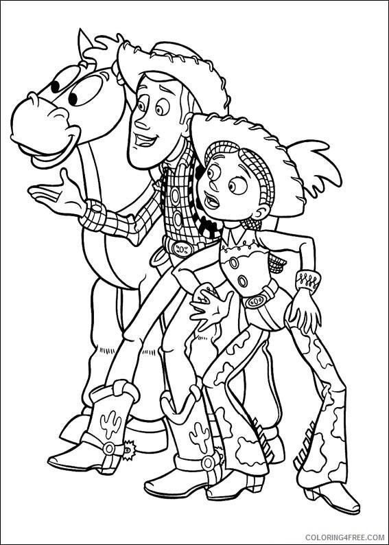 Woody Coloring Pages Tv Film Bullseye Woody N Jessie A4 Printable 2020 11747 Coloring4free Coloring4free Com