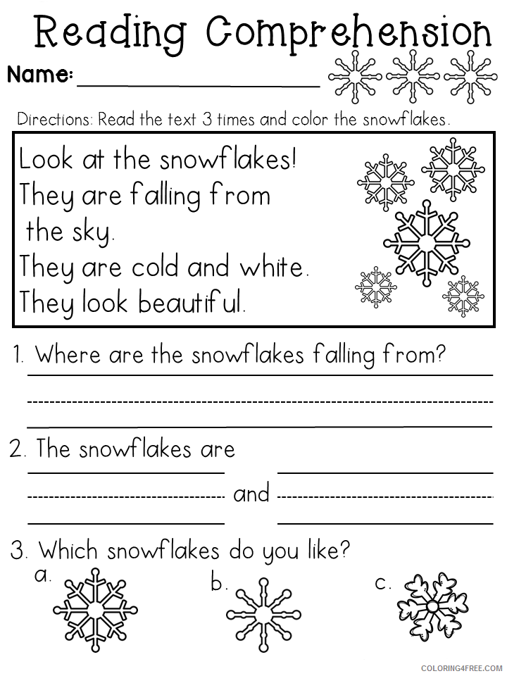 1st Grade Coloring Pages Educational Easy Reading Worksheets Printable 2020  0082 Coloring4free - Coloring4Free.com