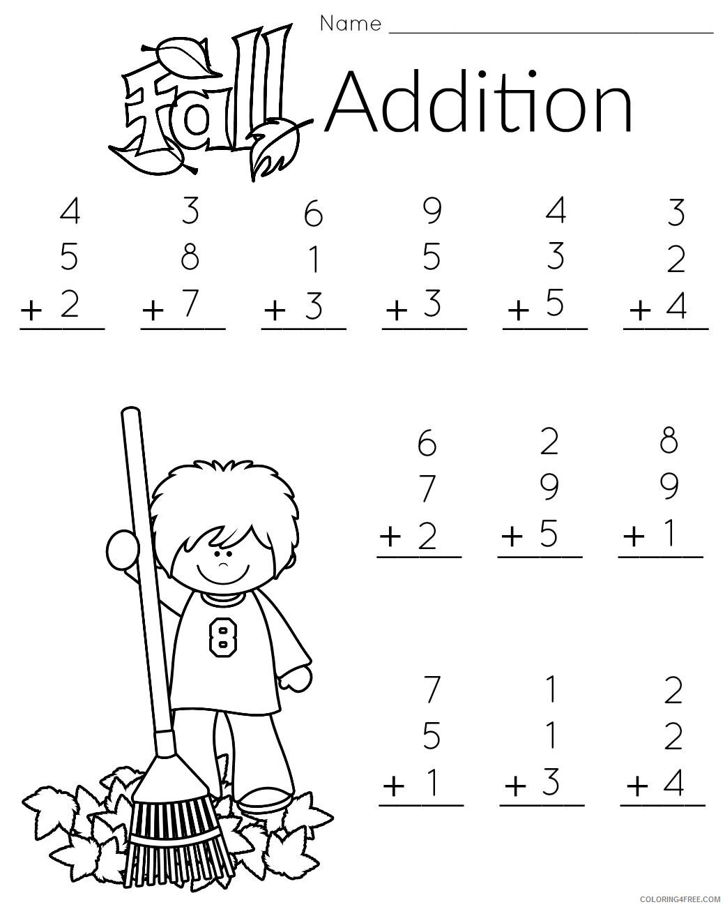 1st Grade Coloring Pages Educational Math Worksheets Printable 2020 0085 Coloring4free Coloring4free Com
