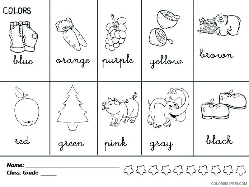 1st Grade Coloring Pages Educational Worksheetss Printable 2020 0078  Coloring4free - Coloring4Free.com