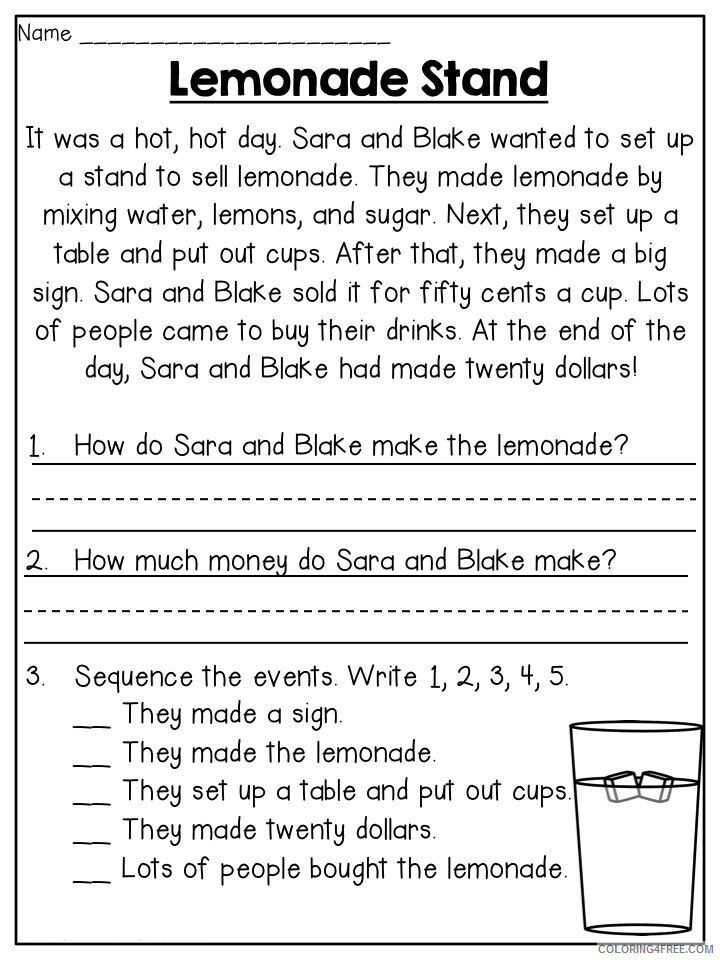 2nd Grade Coloring Pages Educational Free Worksheets Printable 2020 0234  Coloring4free - Coloring4Free.com