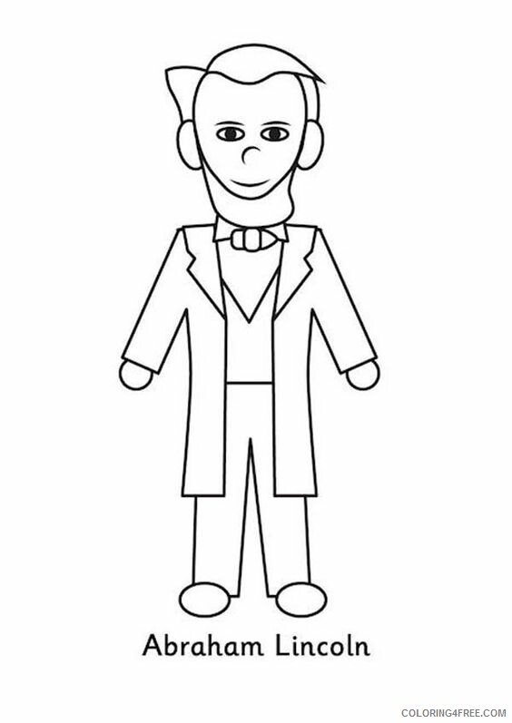 Abraham Lincoln Coloring Pages Educational Easy Printable 2020 0531 Coloring4free Coloring4free Com