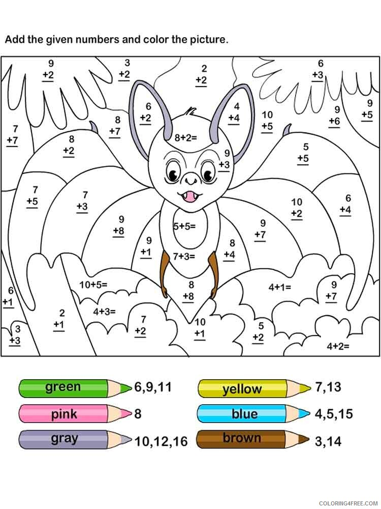 Addition Coloring Pages Educational Educational Addition 11 Printable 2020 0555 Coloring4free Coloring4free Com