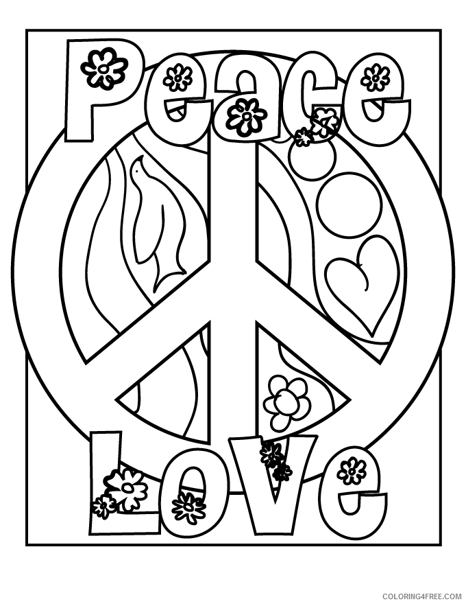 Adult Animals Coloring Pages Easy Peace for Adults Printable 2020 146 Coloring4free