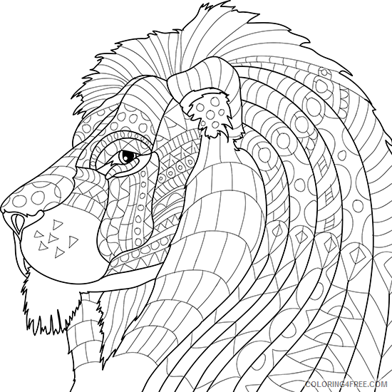 Adult Animals Coloring Pages Printable Animal for Adults Printable 2020 164 Coloring4free