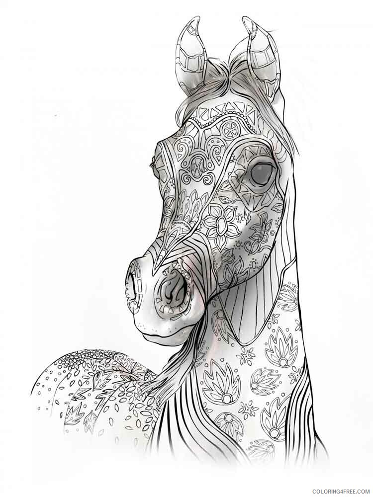 Adult Animals Coloring Pages adult animals 10 Printable 2020 087 Coloring4free