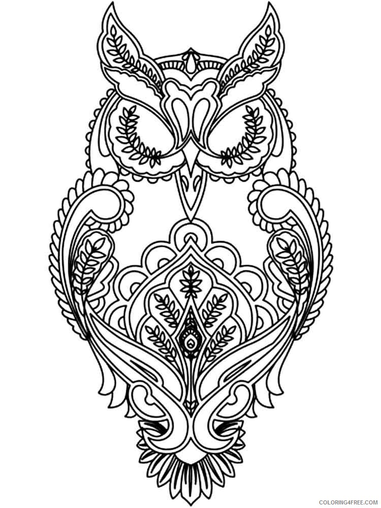 Adult Animals Coloring Pages adult animals 4 Printable 2020 109 Coloring4free
