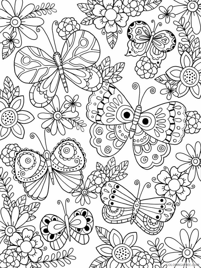 Adult Butterfly Coloring Pages Adult Butterflies Printable 2020 174 Coloring4free