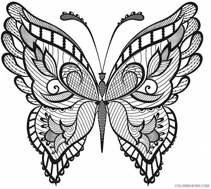 Adult Butterfly Coloring Pages Adult Butterfly Printable 2020 175 Coloring4free
