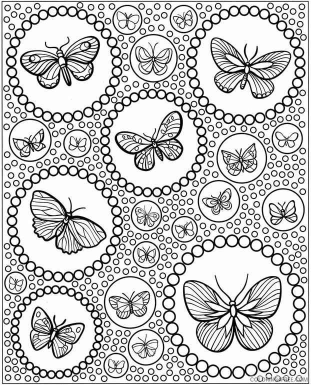 Adult Butterfly Coloring Pages Advanced Butterfly for Adults Printable 2020 176 Coloring4free