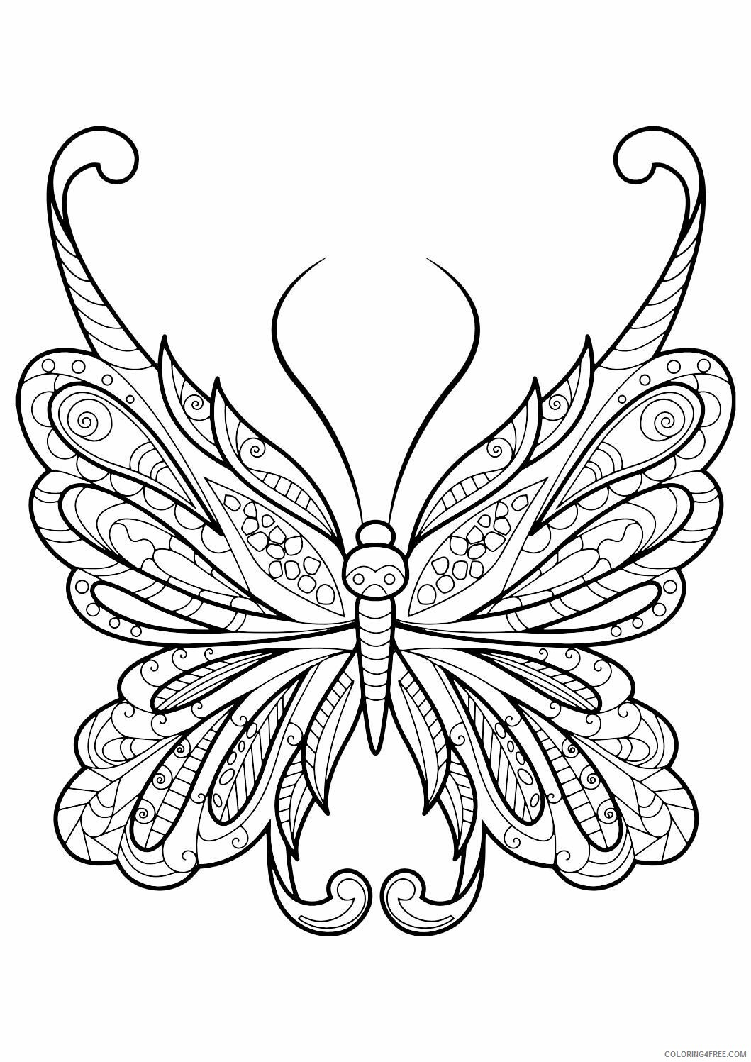 Adult Butterfly Coloring Pages Butterfly for Adults Printable 2020 183 Coloring4free