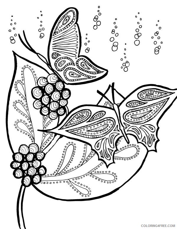 Adult Butterfly Coloring Pages Butterfly for Adults Printable 2020 193 Coloring4free