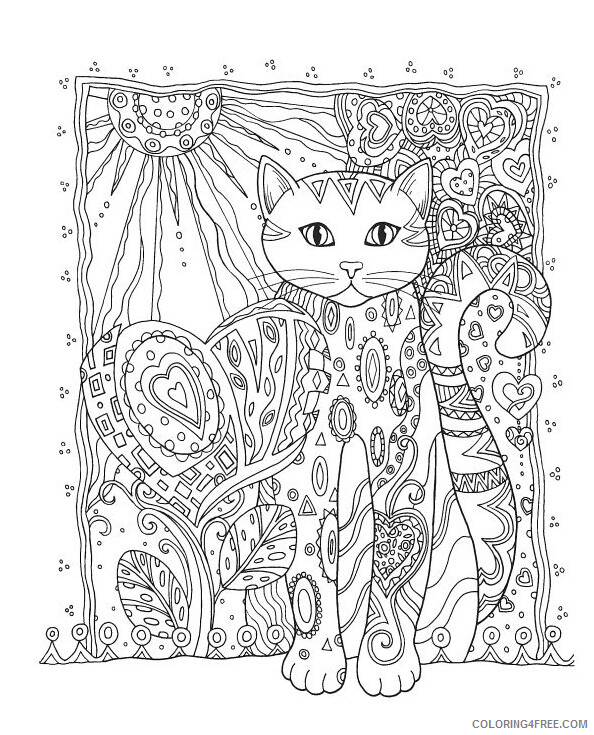 Adult Cat Coloring Pages Animal for Adults Cat Printable 2020 199 Coloring4free