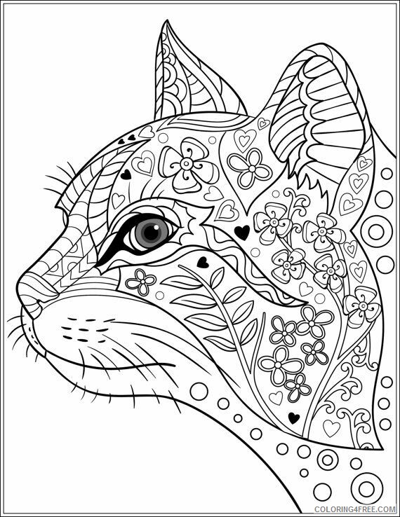 Adult Cat Coloring Pages Cat for Adults 1 Printable 2020 204 Coloring4free