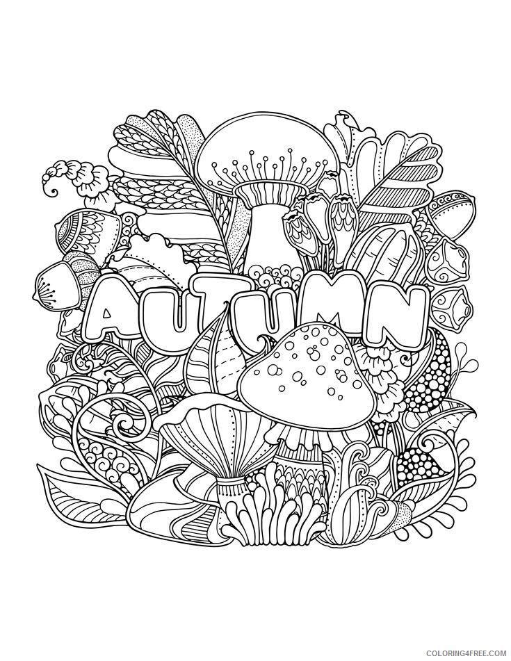 Adult Coloring Pages Autumn for Adults Printable 2020 008 Coloring4free