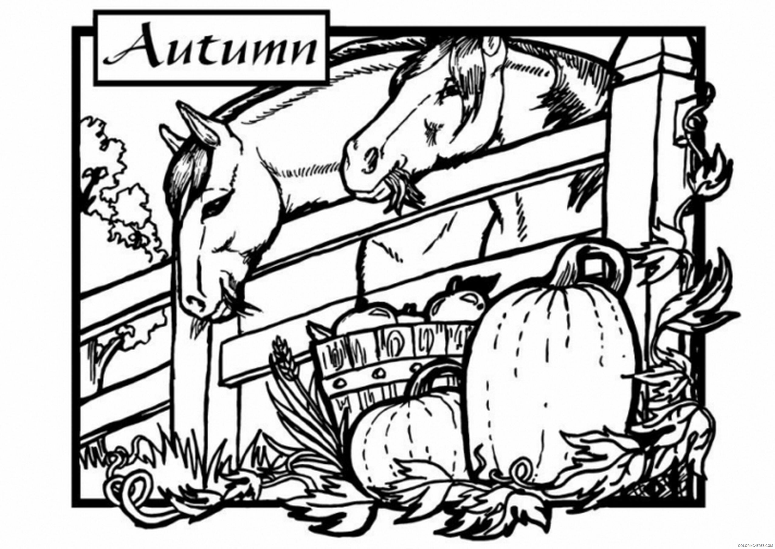 Adult Coloring Pages Autumn on the Farm for Adults Printable 2020 009 Coloring4free