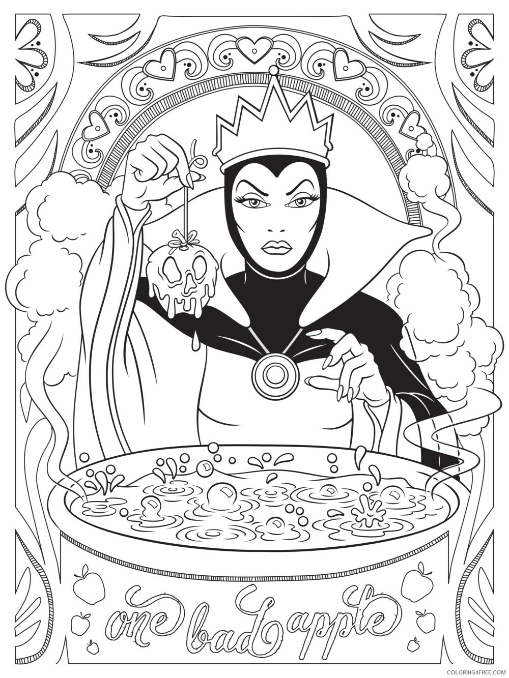 Adult Coloring Pages Disney Villian for Adults Printable 2020 017 Coloring4free