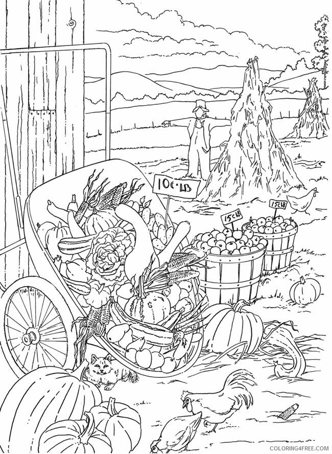 Adult Coloring Pages Harvest Scenery for Adults Printable 2020 036 Coloring4free