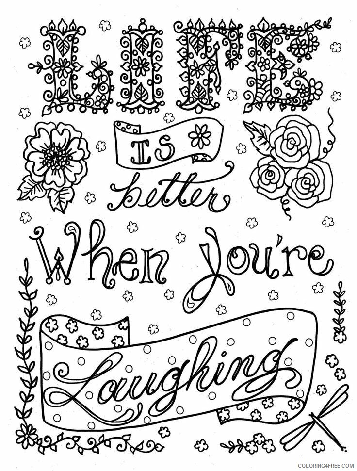 Adult Coloring Pages Laugh Quote For Adult Printable 2020 042 Coloring4free  - Coloring4Free.com
