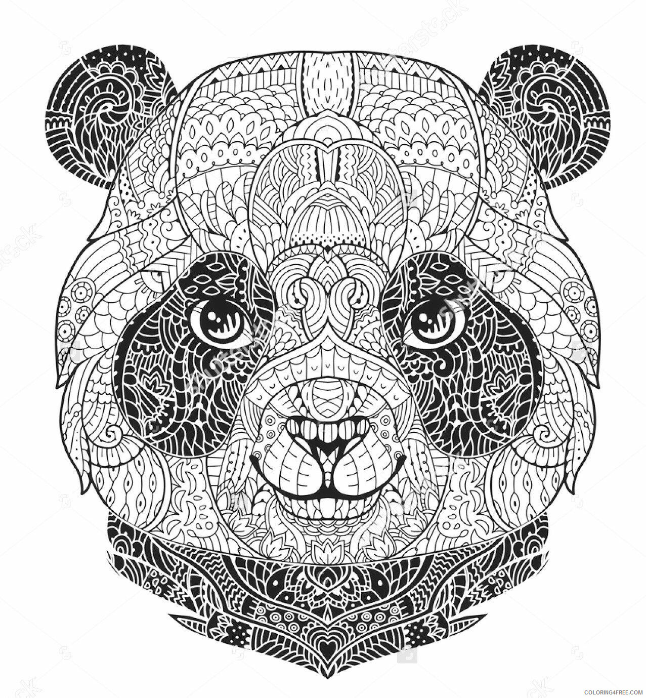 Adult Coloring Pages Panda Face for Adults Printable 2020 050 Coloring4free