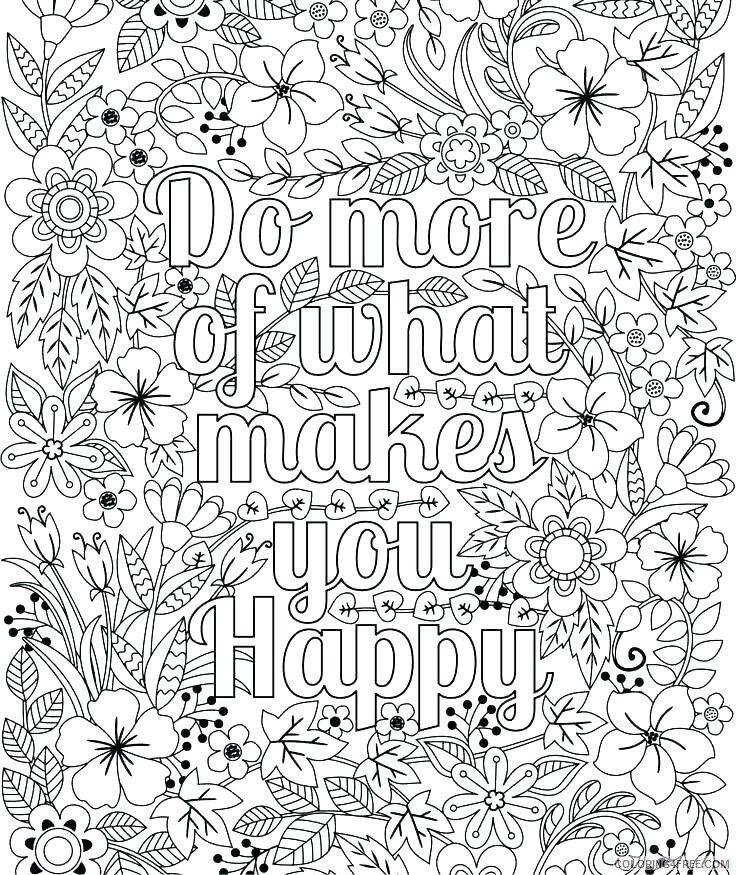 Adult Coloring Pages Quote For Adults Printable 2020 059 Coloring4free -  Coloring4Free.com