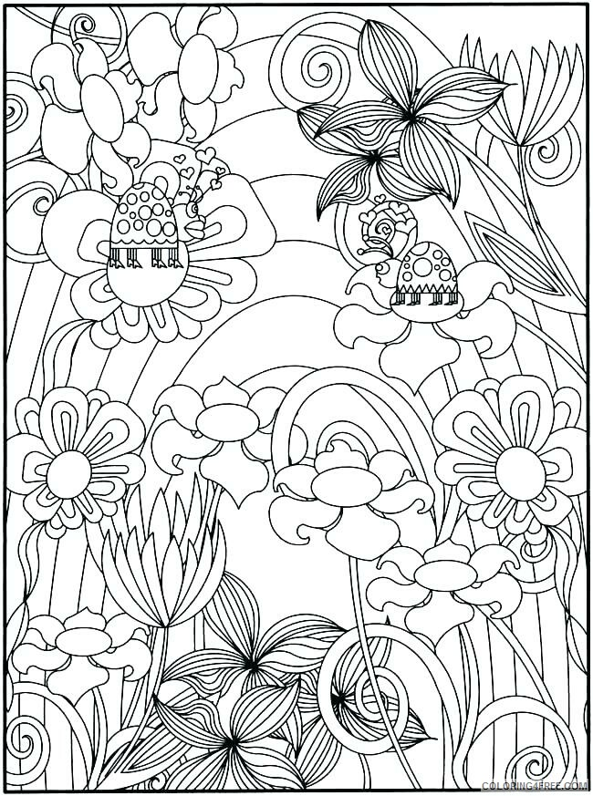 Adult Coloring Pages Spring Scenery for Adults Printable 2020 075 Coloring4free