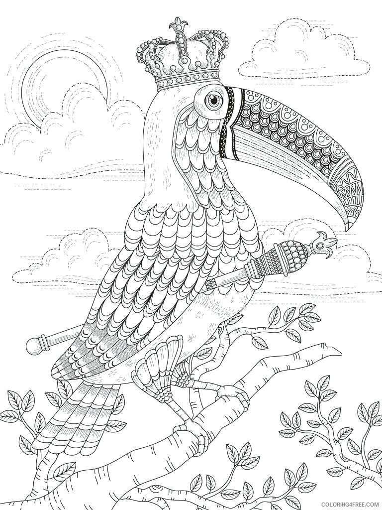 Adult Coloring Pages Toucan for Adults Printable 2020 077 Coloring4free