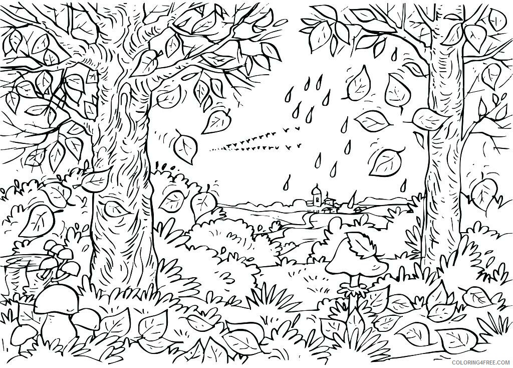 Adult Coloring Pages Trees Scenery for Adults Printable 2020 079 Coloring4free
