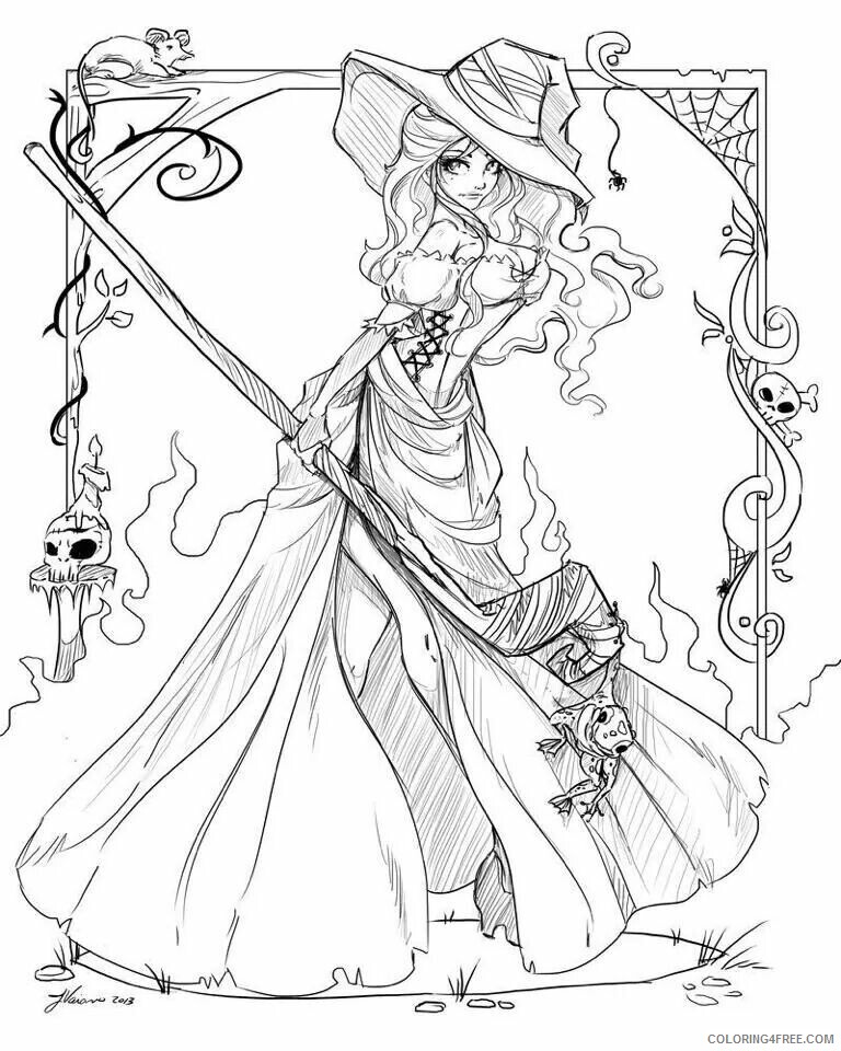 Adult Coloring Pages Witch Art for Adults Printable 2020 080 Coloring4free