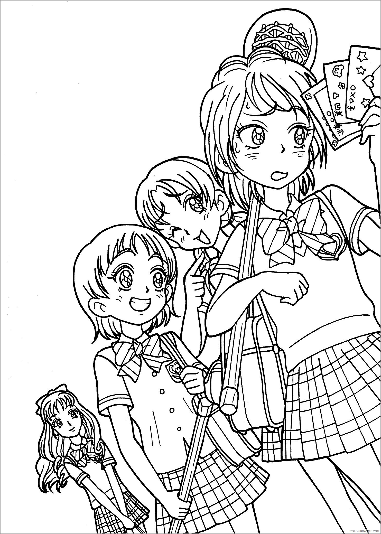 Adult Coloring Pages girls anime for adults Printable 2020 030 Coloring4free