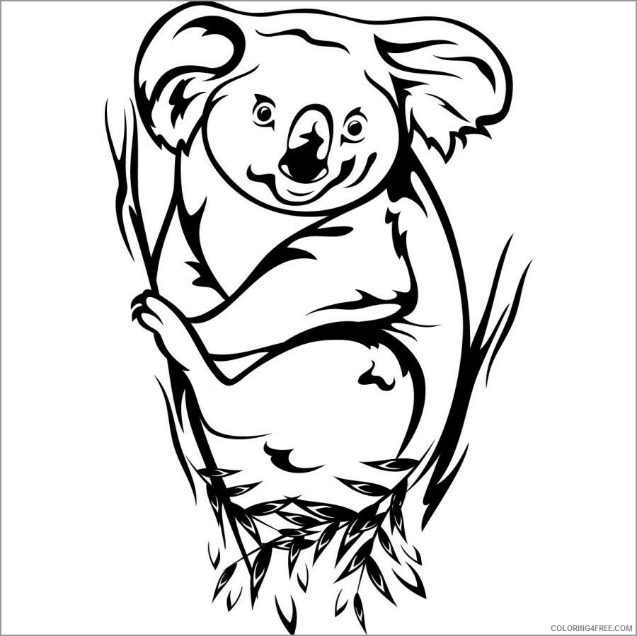 Adult Coloring Pages koala for adults Printable 2020 040 Coloring4free