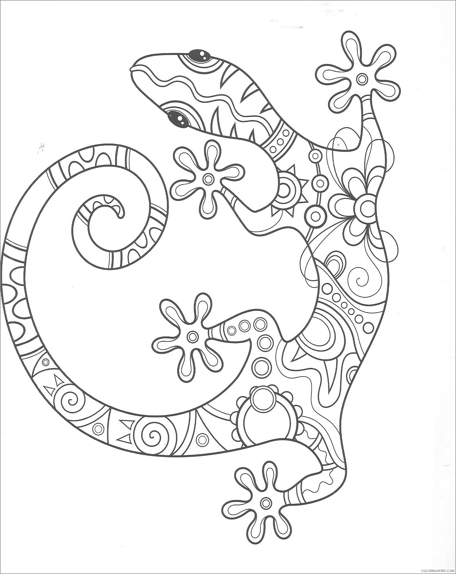 Adult Coloring Pages lizards for adult Printable 2020 044 Coloring4free