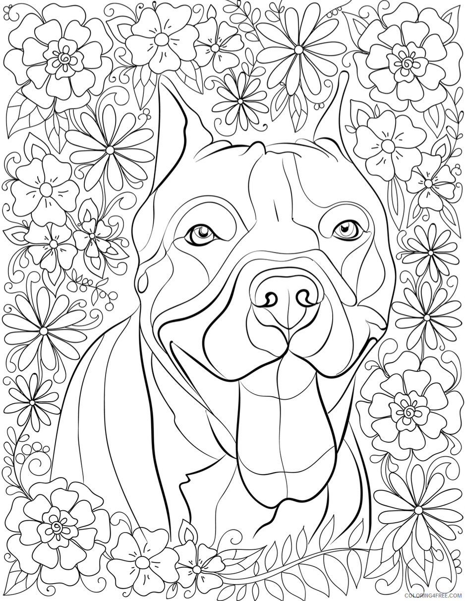 Adult Dog Coloring Pages Dog for Adults Printable 2020 231 Coloring4free