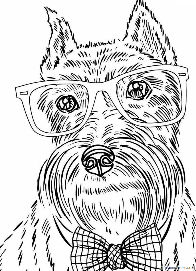 Adult Dog Coloring Pages Funny Dog for Adults Printable 2020 233 Coloring4free