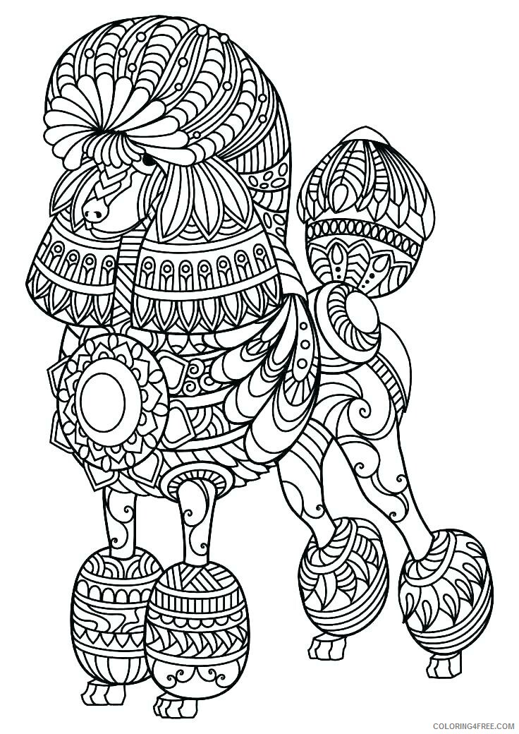 Adult Dog Coloring Pages Hard Dog for Adults Printable 2020 234 Coloring4free