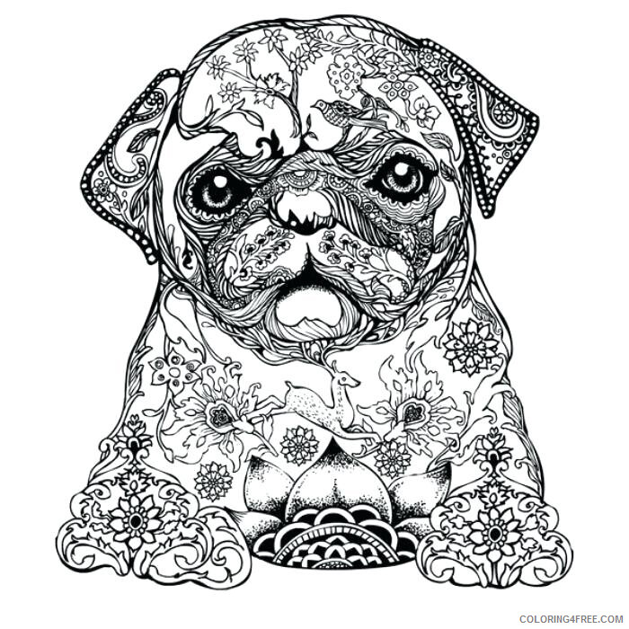 Adult Dog Coloring Pages Nature Dog for Adults Printable 2020 236 Coloring4free