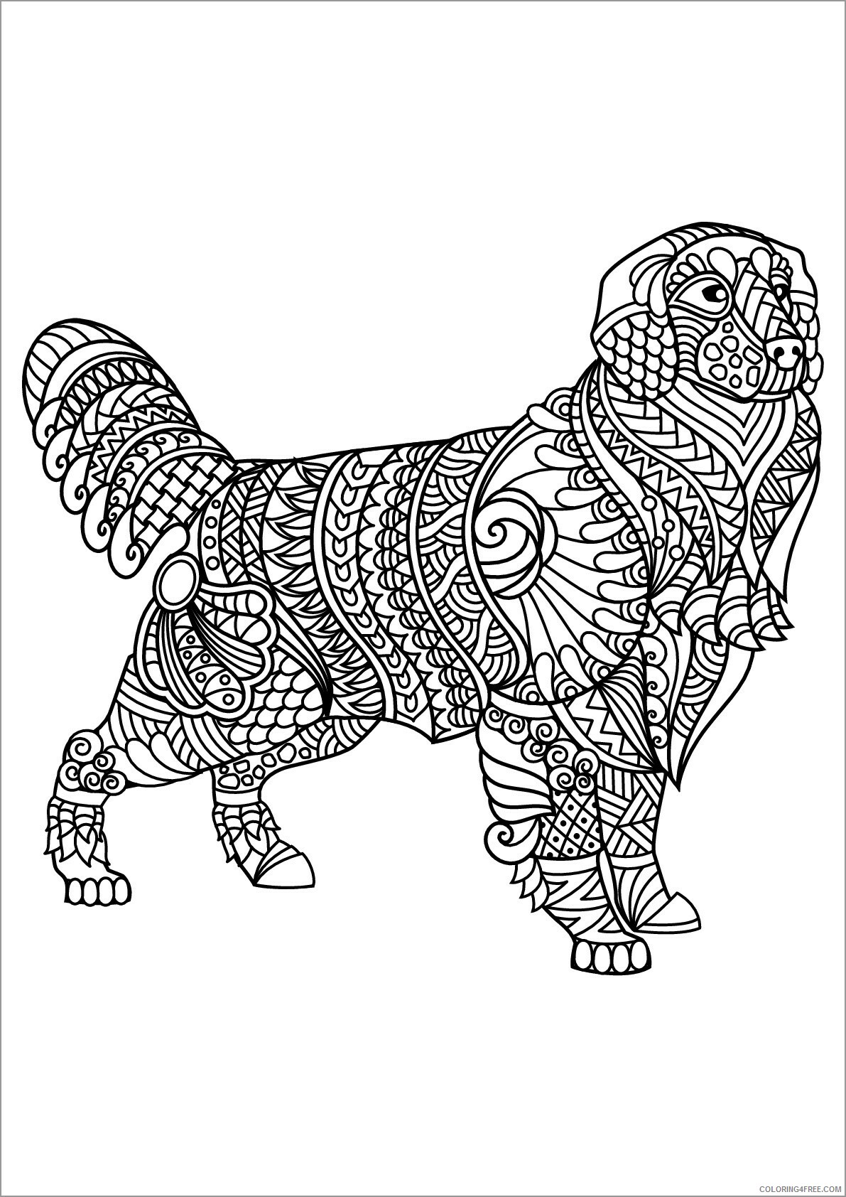 Adult Dog Coloring Pages labrador dog for adults Printable 2020 235 Coloring4free