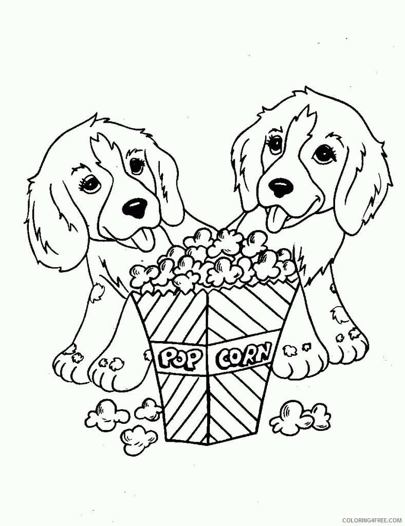 Adult Dog Coloring Pages popular dog sheets free for kids Printable 2020 220 Coloring4free