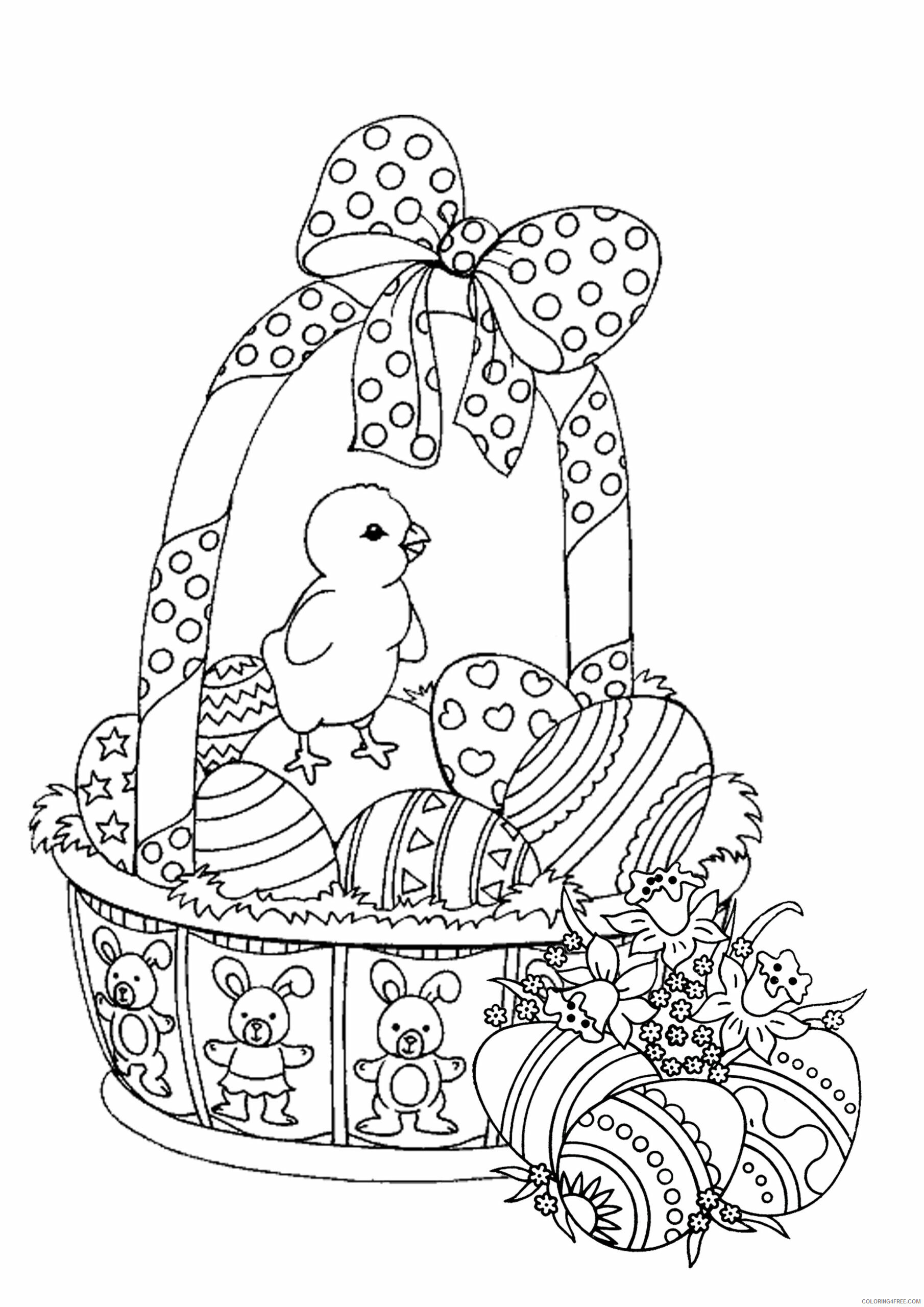 Adult Easter Coloring Pages Easter Basket for Adults Printable 2020 246 Coloring4free