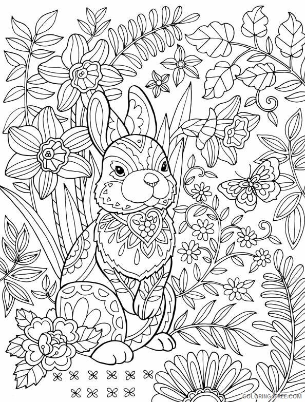 Adult Easter Coloring Pages Easter Bunny for Adults Printable 2020 248 Coloring4free