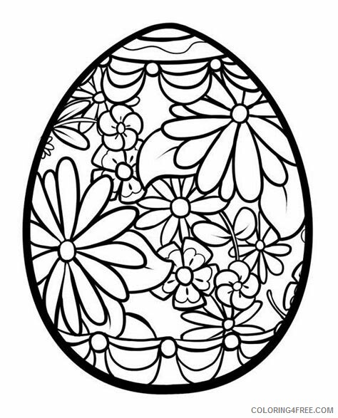 Adult Easter Coloring Pages Easter Egg for Adults Printable 2020 252 Coloring4free